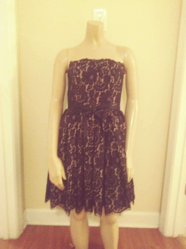 eb6a8b916c92f Used New black lace cocktail dress neiman marcus for sale in ...