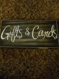 white and black wooden Gift & Cards signage Columbus, 43204