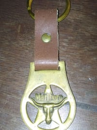 ANTIQUE Marlboro brass key chain
