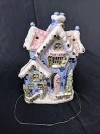 white and blue ceramic house miniature 41 km
