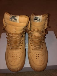 pair of brown Nike Air Force 1 high Oxon Hill, 20745