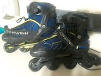 kids adjustable  Blue and black rollerblades, size 5678