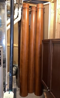 3 Furniture grade wood columns. Custom ordered but too tall to fit Chantilly, 20152