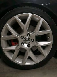 4 vw rims and tires  5x112