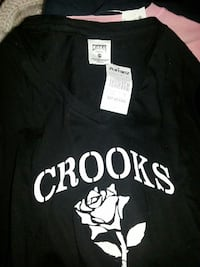 black Crooks v-neck top