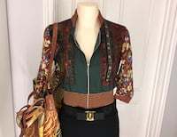 Authentic Jean Paul Gaultier Print Silk zip blouse Burlington, L7L 5S8