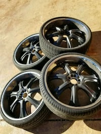 24 inch rims with spacers and lugs Madison, 39110