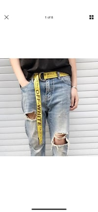 Off White Belt With Buckle