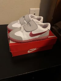 Pair of white-and-gray nike sneakers Houston, 77045