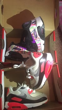 2 pair of toddlers Nike  both are a 6c Hampton, 23666