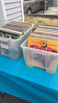 Garage sale lots of records, movies and cds Surrey, V3V 2X1