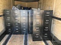 All Black 4-Drawer File Cabiners   • Lot 24 AVS Charlotte, 28278