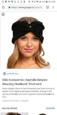 UGG real fur Gorgeous Bow headwrap Vancouver, V6G 1L5