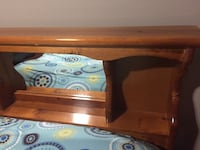 Brown wooden  bed frame for a double bed
