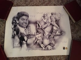 Collectible autographed 1995 San Francisco 49 'ers print