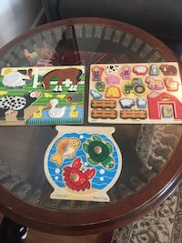 3 wooden Melissa and Doug all for $10 Woodbridge, 22191