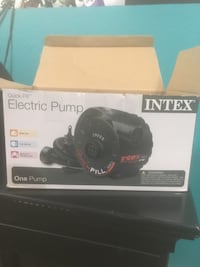 Black intex quick-fill electric pump box