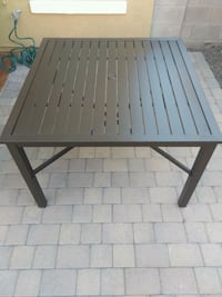 Outdoor steel square square dining table Phoenix, 85339