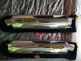 2013 Ducati tailpipes made by Two brothers racing