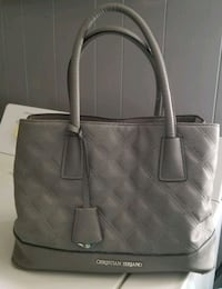 women's gray leather tote bag Sharon, 16146