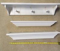 3 white decorative shelves 14 mi