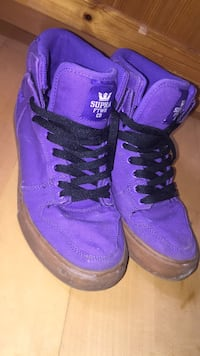 Purple-and-black Supra shoes size 10 Womens Calgary, T2M