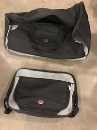 Gym bag suitcase on wheels as new