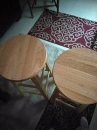 round brown wooden table with two chairs Hendersonville, 28792