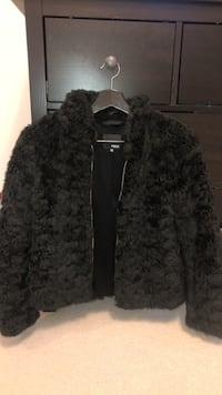 Black fur coat from Aritzia. BRAND NEW- bought for 225 Coquitlam