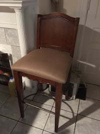 brown wooden framed padded chair Troy, 12182