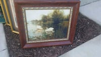 brown wooden framed painting of trees Patterson, 95363