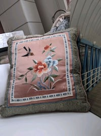 Handmade Chinese silk decor pillow