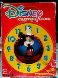 Used Disney Chatter Clock Pull String For Sale In Newark