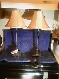 two brown and white table lamps DeFuniak Springs