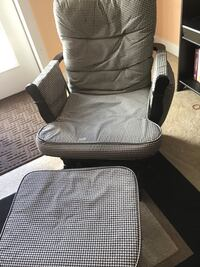 Black and gray padded rolling chair Woodbridge, 22191