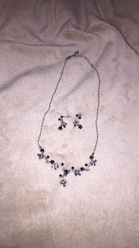 silver-colored necklace with earrings Long Grove, 60047