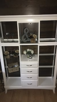 White Cabinet with Built in Lights  Kitchener, N2P