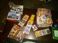 Assorted sports cards and models 156 mi