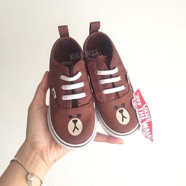 fa09a24b6d Used VANS x LINE Friends BROWN Toddler shoes for sale in Hong Kong - letgo