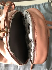 Skagen pink leather & suede purse