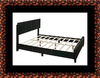 Queen bed platform bed with mattress 55 km