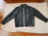 Like New Black Italian Leather Jacket Size Large  Toronto, M9N 0A4