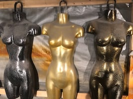 Mannequins: painted in flake with various base