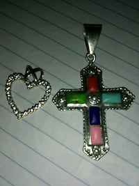 red and silver-colored cross pendant Mayfield, 42066