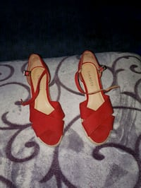 pair of women's red ankle-strap pumps Conception Bay South, A1X 6G3