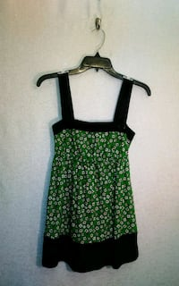 GREEN FLORAL BABYDOLL TOP