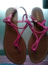 pair of purple-and-brown sandals Tucker, 30084