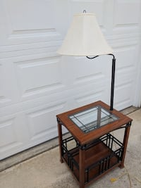 End table with lamp