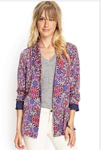 women's purple and pink floral cardigans