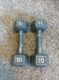 two black fixed weight dumbbells Mapleton, 84664
